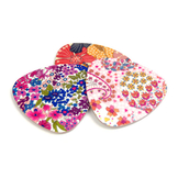 Glasunderlägg Triangulär 'Floral' Blandpack