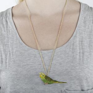 Grön Undulat Halsband