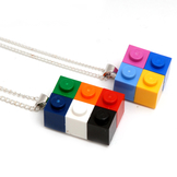 Halsband Byggkloss Multifärgad