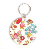 Nyckelring 'Floral' Lingon