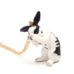 Svart/vit Kanin Halsband